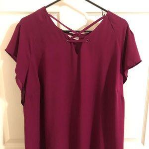 Maurices burgundy blouse.